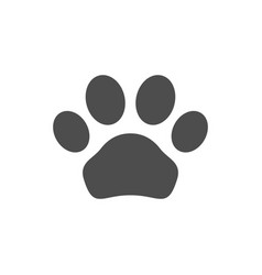 animal paw icon and pet concept vector image