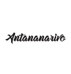 antananarivo text design calligraphy vector image