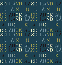 Auckland seamless pattern vector