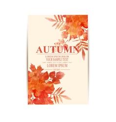 autumn background with orange leaves imitation vector image
