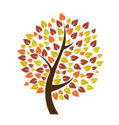 autumn tree icon vector image