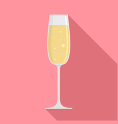bar champagne glass icon flat style vector image