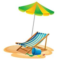 Beach chair vector