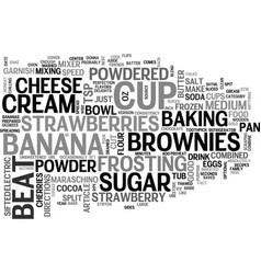 best recipes banana split brownies text word vector image