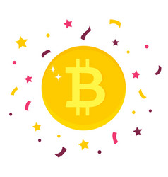 Bitcoin digital currency on white background vector