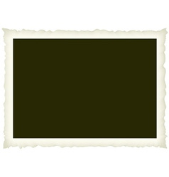 blank old photo vector image