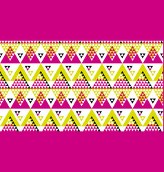 Bright fun geometry seamless pattern vector