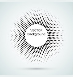circle dot halftone pattern background vector image