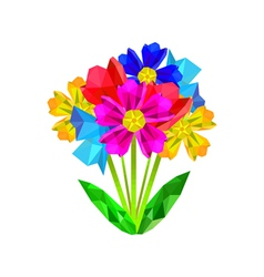 colorful origami bouquet vector image
