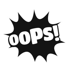 Comic boom oops icon simple black style vector