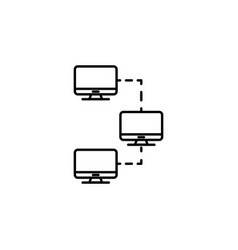 computer connections icon emblem isolated on vector image