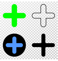 cross eps icon with contour version vector image