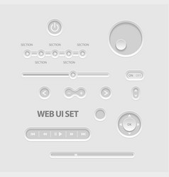 dark web ui elements vector image