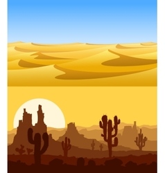 Desert landscapes set vector