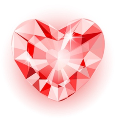 Diamond heart final vector image