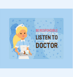 doctor doctoral woman character vector image