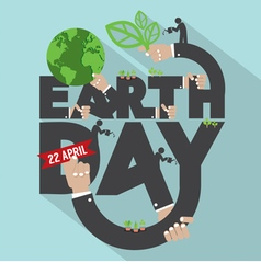Earth Day Typography Design vector image