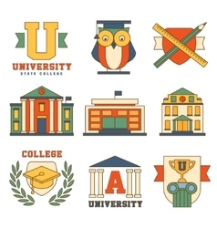 Education and University Set of Icons vector image