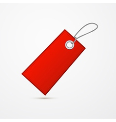 Empty Red Label Tag With String vector