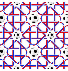 football banner russian colors seamless pattern vector image