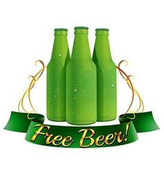 Free beer label vector