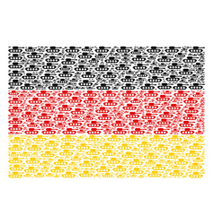germany flag pattern of military tank icons vector image