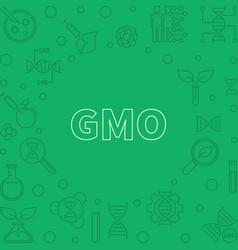 Gmo green concept outline frame or vector