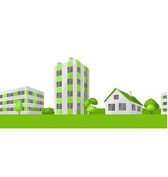 green town concept vector image