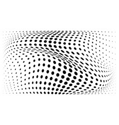 Halftone convex gradient circle dots background vector