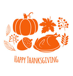 happy thanksgiving autumn background vector image
