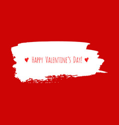 happy valentines day red watercolor texture vector image