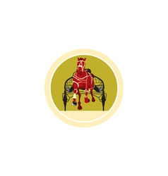 Horse and Jockey Harness Racing Retro vector