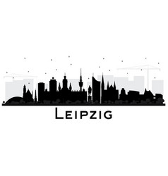 leipzig germany city skyline silhouette vector image