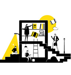 Library - modern flat design style conceptual vector