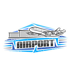 logo for airport vector image