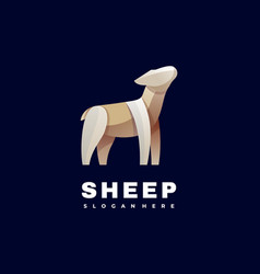 logo sheep gradient colorful style vector image