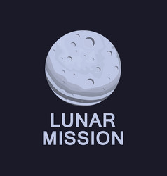 Lunar mission flight to moon earth satellite vector