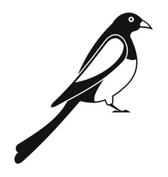 Male magpie icon simple style vector