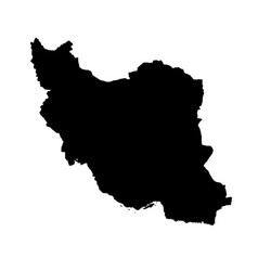 Map iran isolated black on vector