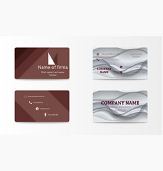 Modern creative and trending business cards set vector