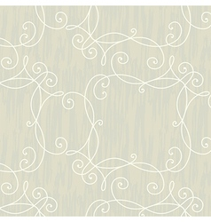 Modern swirl vintage floral seamless pattern vector image
