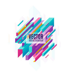 Multicolored geometric vector