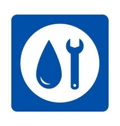 Plumbing repair icon vector