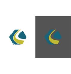 polygon letter k logo vector image