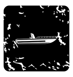 Powerboat icon grunge style vector