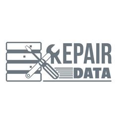 repair data logo simple style vector image