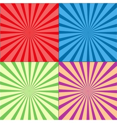 Retro Rays Background Set vector