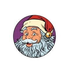 Santa Claus portrait in the round vector image