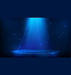scene illuminated with blue light magic party vector image