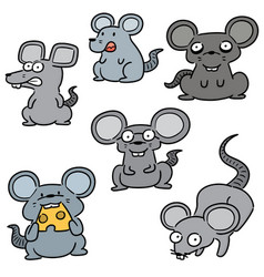 set mouse vector image